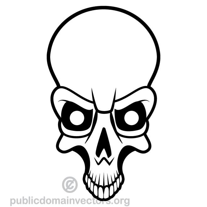 660x660 Skull Vector Image