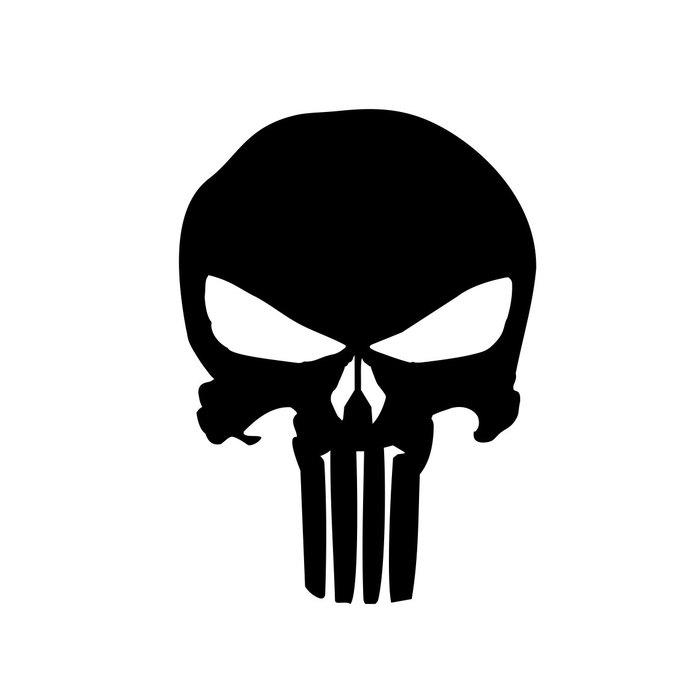 690x690 The Punisher Skull Graphics Design Svg Dxf By Vectordesign On Zibbet