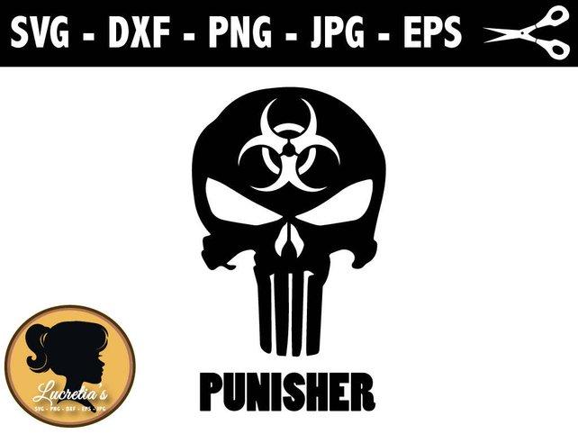 642x482 The Punisher Skull Svg Shull Vector Art Clipart Svg Files Etsy