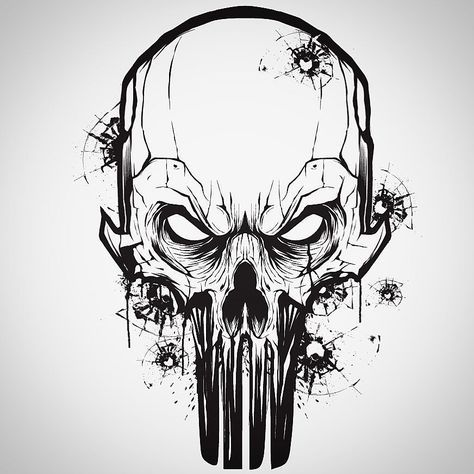 474x474 Little Vector Mouse Click Warm Up With A Punisher Skull