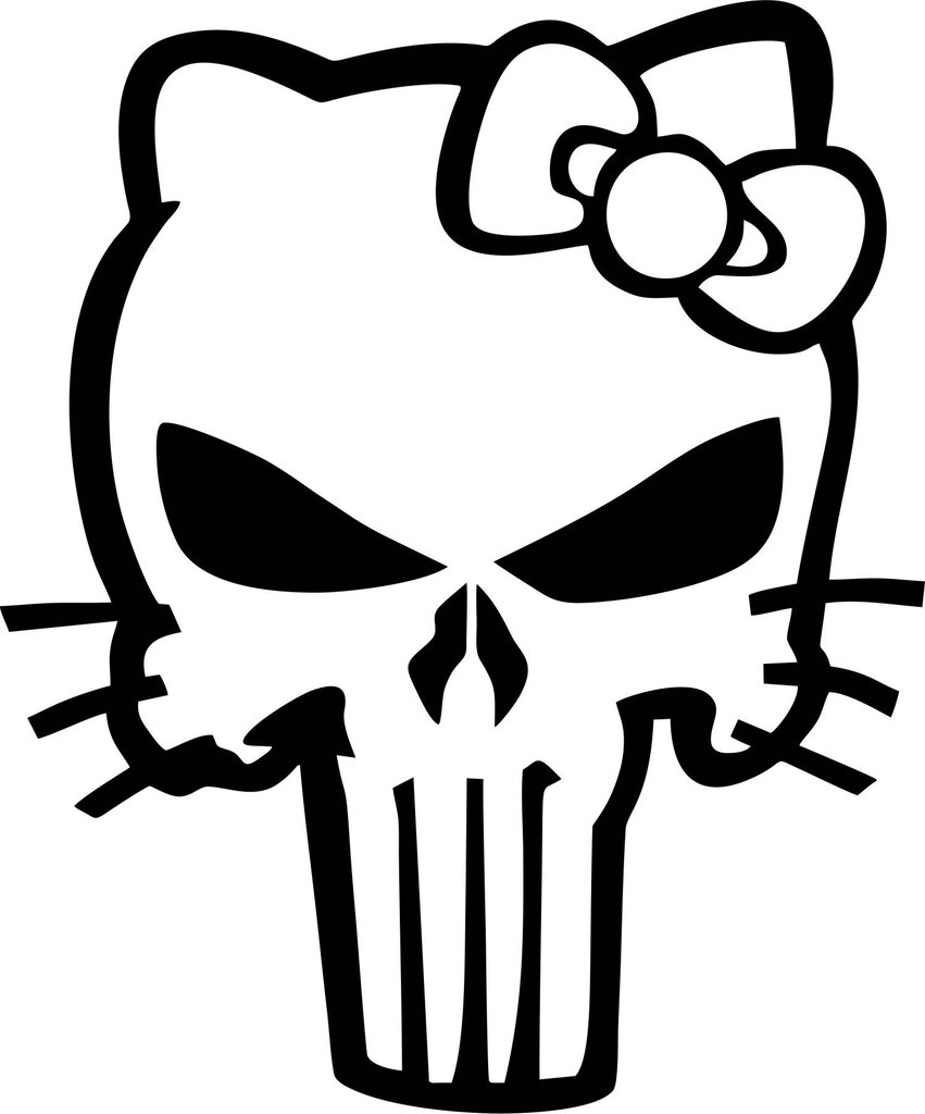 851x1024 Punisher Kitty Vinyl Decal Decals N More