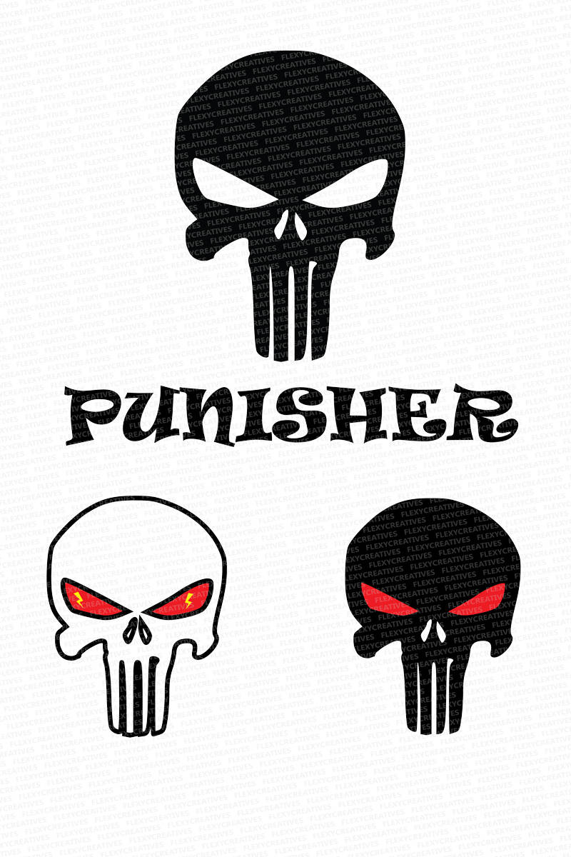 800x1200 Punisher Vector Clipart Cut File Punisher Clip Art Etsy