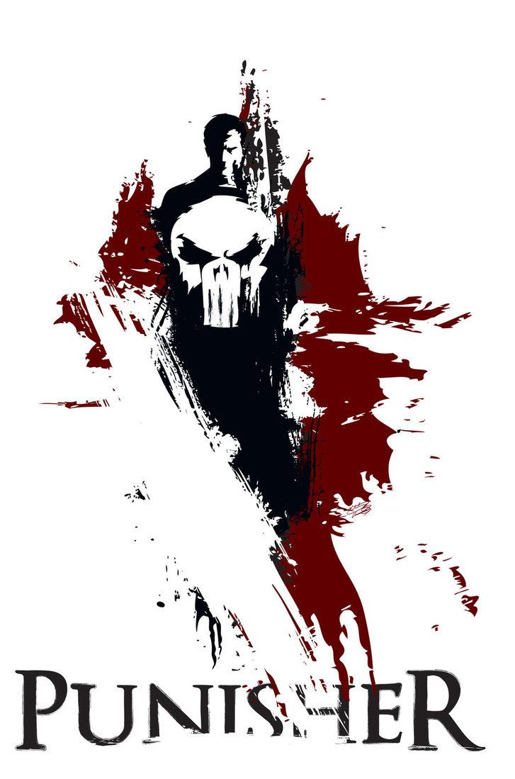 727x1099 Punisher By Nthomas Illustration