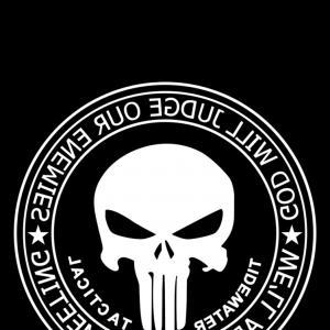 300x300 The Punisher Skull Flag Police Officer Sohadacouri
