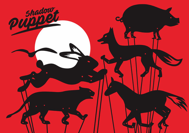 632x443 Shadow Puppet Vector Set Free Vector Download 376069 Cannypic