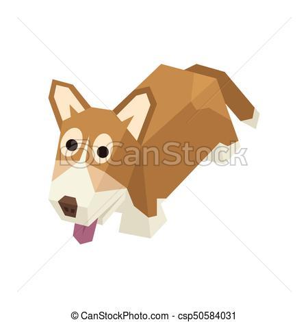450x470 Isometric Welsh Corgi. Vector Breed Isometric Dog. Isolated Cute