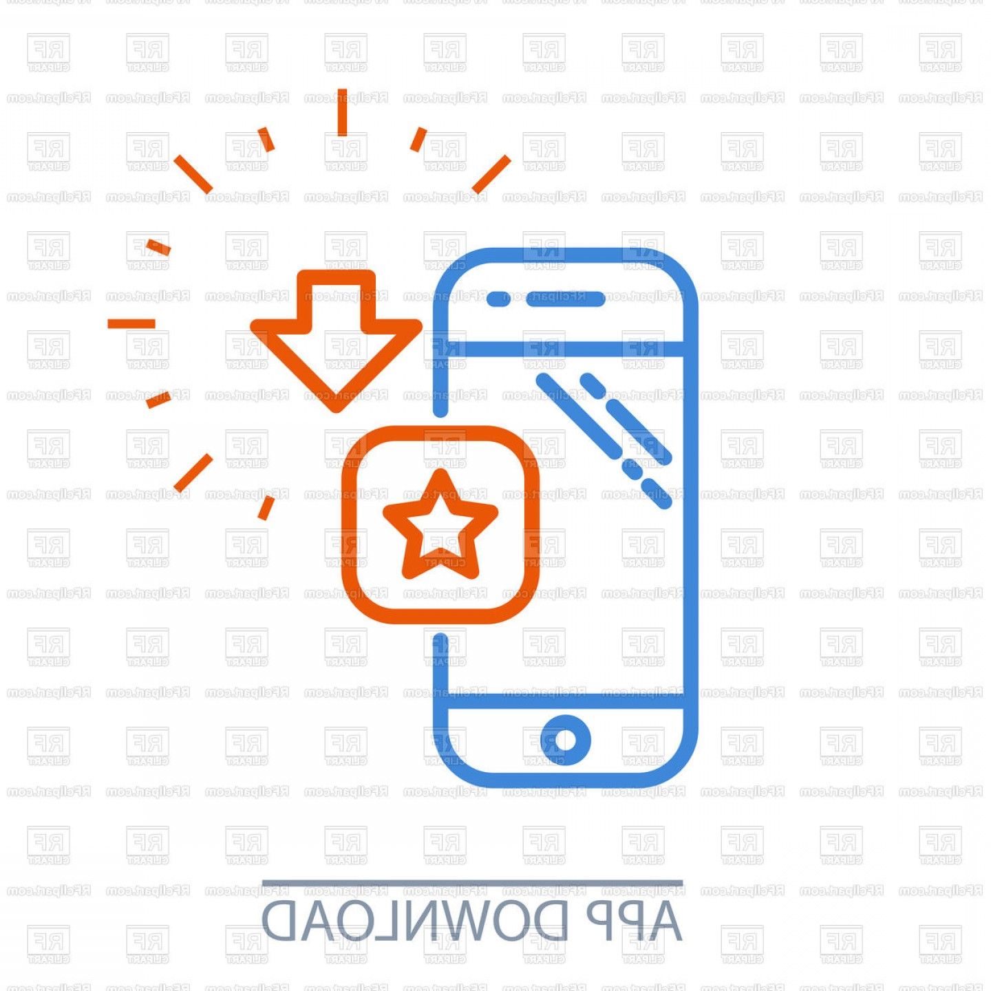 1440x1440 Download Smartphone App Mobile Application Purchase Icon Vector