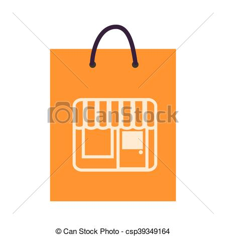 450x470 Bag Shop Purchase Icon Vector. Bag Shop Shopping Gift Packet Store