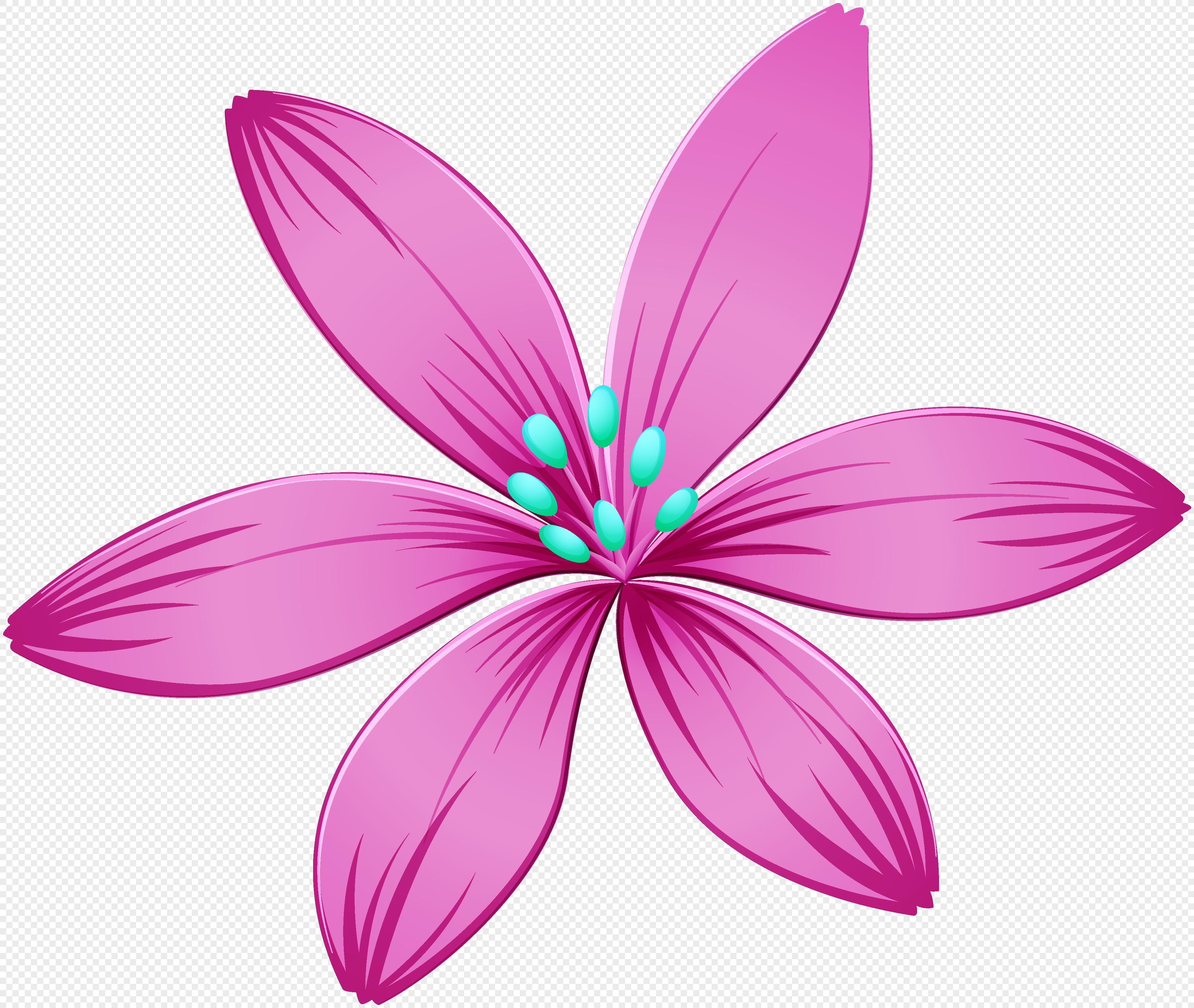 Purple Flower Cartoon Png Flowers Healthy