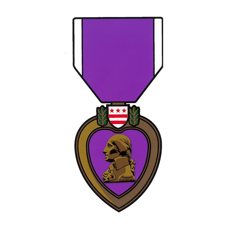800x800 Military Purple Heart Banner Freeuse Library