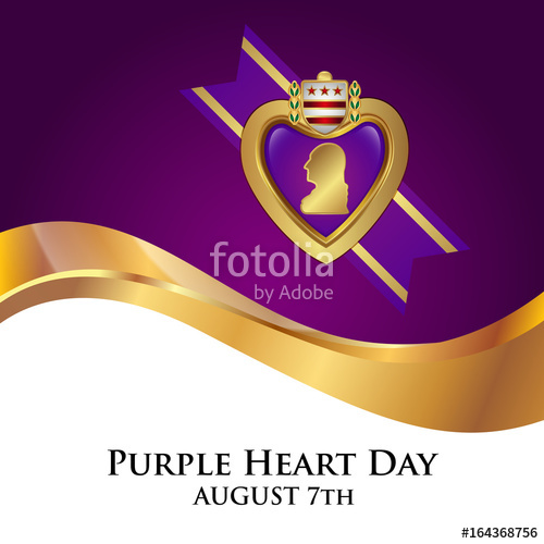 500x500 Purple Heart Appreciation Day Background Stock Image And Royalty