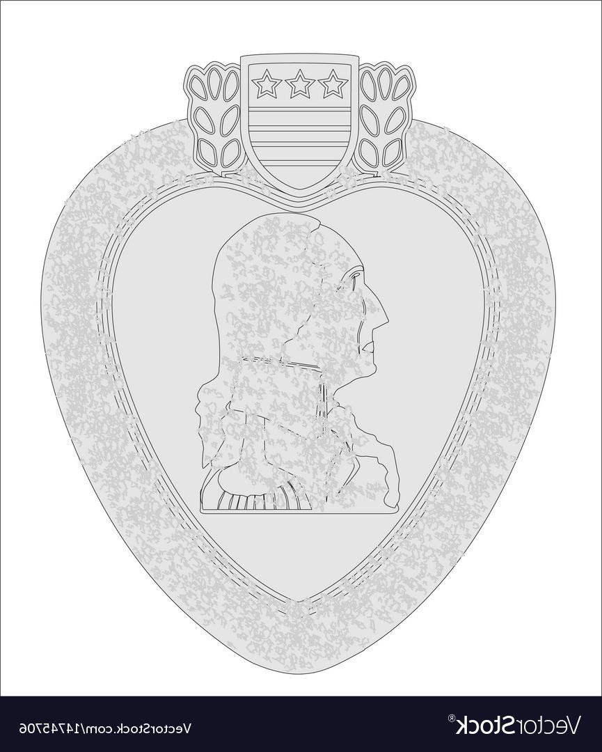 865x1080 Top Purple Heart Medal Outline Vector File Free