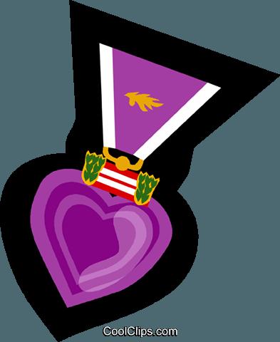 393x480 Purple Heart, War Medal Royalty Free Vector Clip Art Illustration