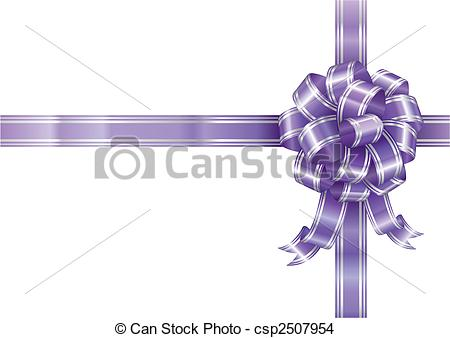 450x338 Purple Ribbon. Purple Ribbon Bow Isolated On White Background