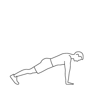 300x300 Fitness Vector Illustration Push Ups Workout
