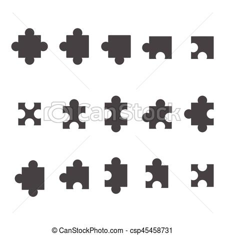 450x470 Jigsaw Puzzle Vector Icon , All Possible Shapes Of Puzzle Pieces.