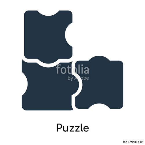 500x500 Puzzle Icon Vector Isolated On White Background, Puzzle Sign