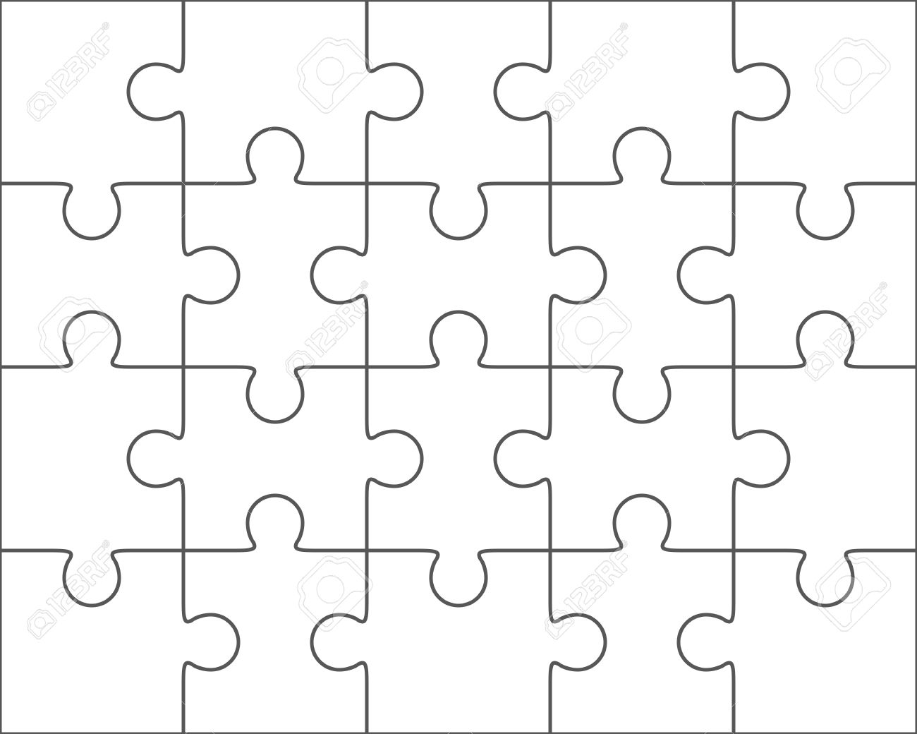 Puzzle Pattern Vector