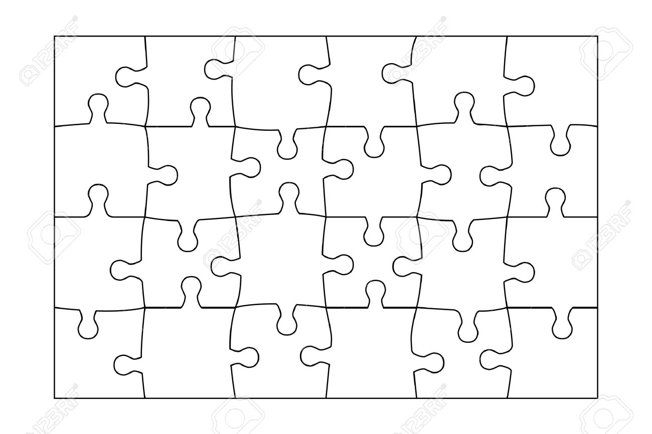 1300x866 Hexagonal Jigsaw Puzzle Template Puzzle Vector Puzzle Template