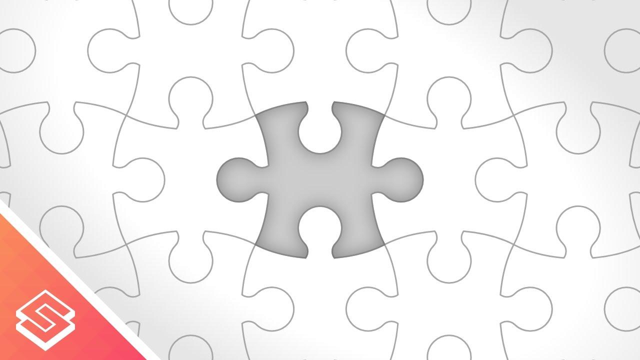 1280x720 Inkscape Tutorial Vector Puzzle Pieces