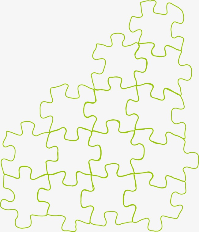 650x757 Monochrome Puzzle Pattern Vector Material, Puzzle, Green Puzzle