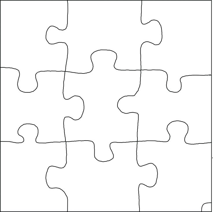 736x730 Puzzle Piece Template Free Colorful Download Pieces Vector