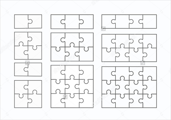 585x410 Puzzle Template, Blank Puzzle Template Free Amp Premium Templates