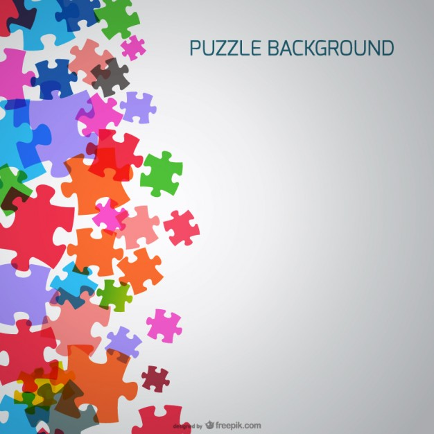 626x626 Puzzle Pieces Background Vector Free Download