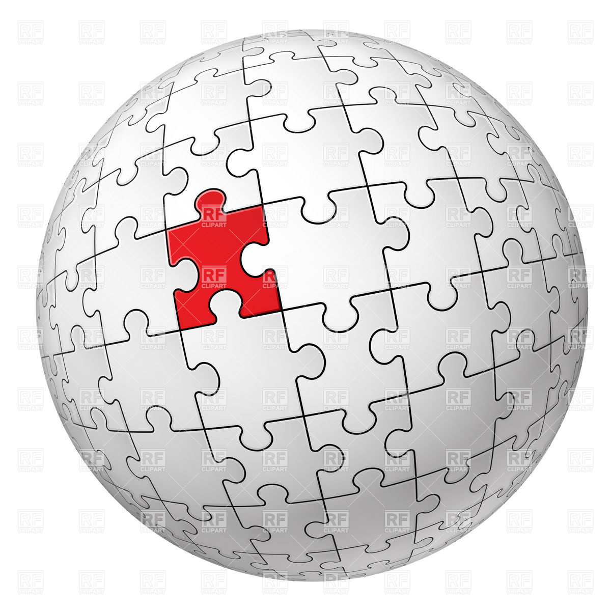 1200x1200 Sphere With Puzzle Pattern Vector Image Vector Artwork Of