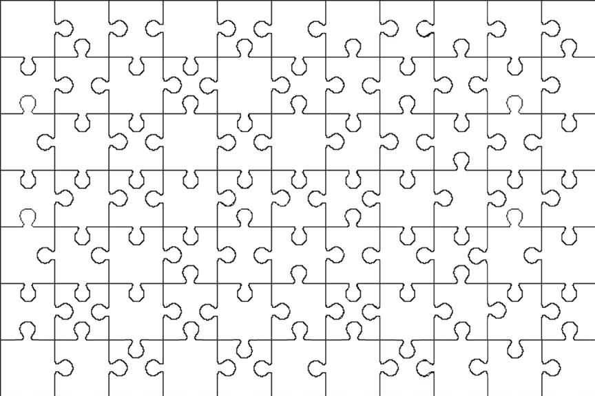 864x576 Download Puzzle Template Pieces Stock Vector Illustration Of