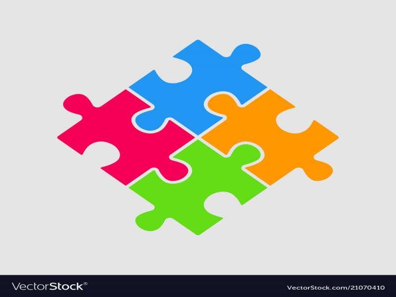 800x600 Puzzle Pieces Vector Best Of Until Four Color Pieces Puzzle Square