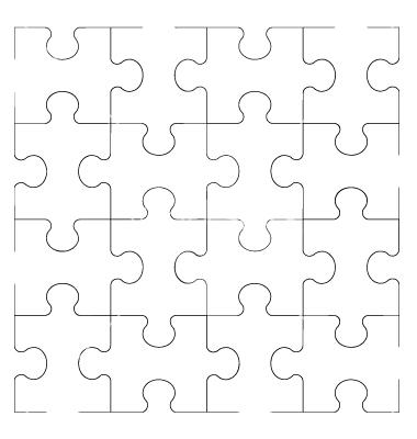 Puzzle Vector Art