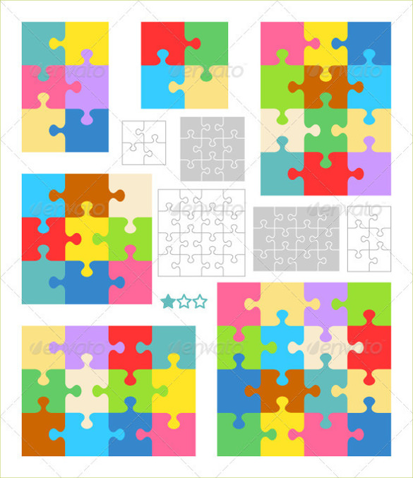 585x677 Puzzle Template, Blank Puzzle Template Free Amp Premium Templates