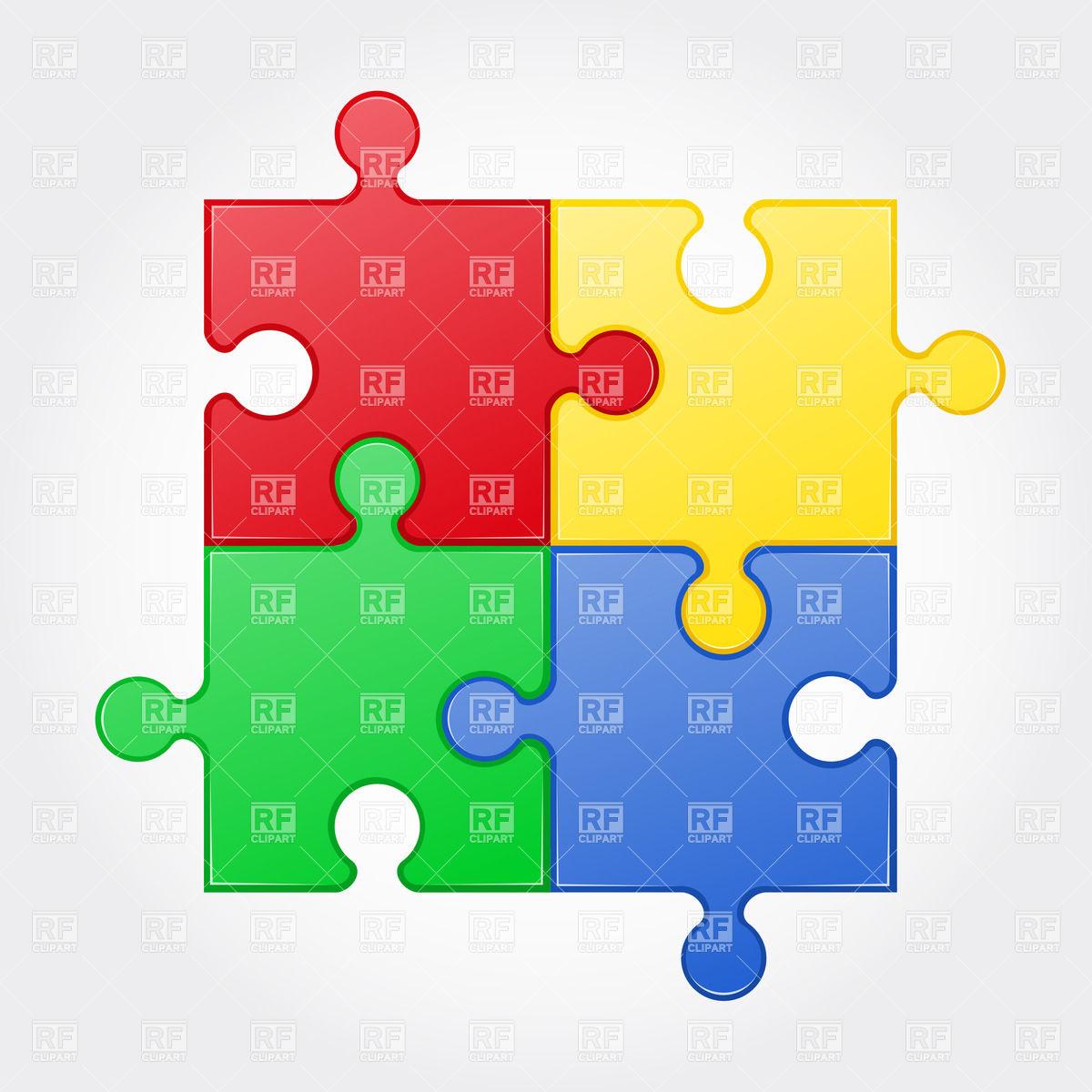 1200x1200 Colour Square Jigsaw Puzzle Elements Vector Image Vector Artwork