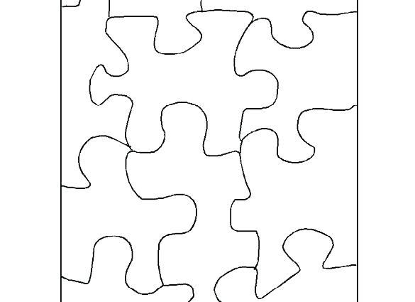585x425 Jigsaw Puzzle Template Blank Blank Puzzle Templates Jigsaw Design
