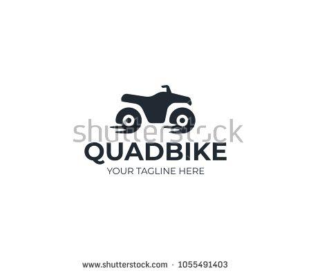 450x395 Quad Bike Logo Template. Atv Vector Design. Quad Biking Logotype