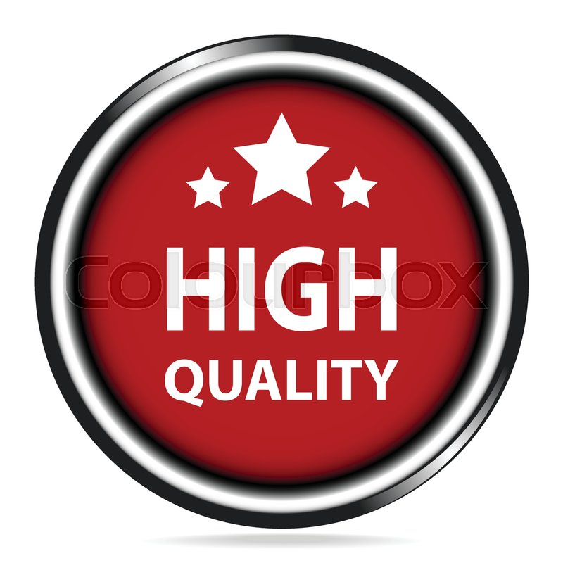 800x800 High Quality Icon, High Quality And Stars Red Button Stock