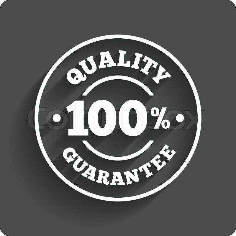 800x800 100% Quality Guarantee Sign Icon. Premium Quality Symbol. Gray