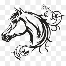 260x260 Decal American Quarter Horse Vector Graphics Illustration Horse