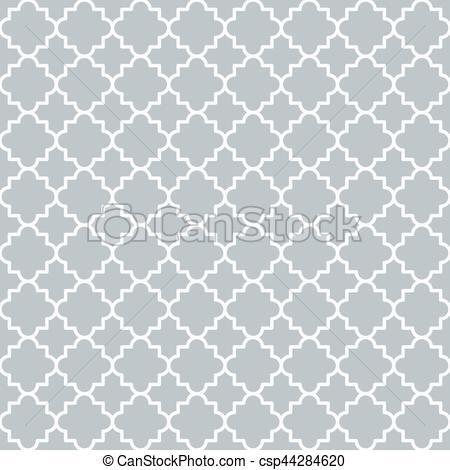 450x470 Traditional Quatrefoil Lattice Pattern Outline. Traditional