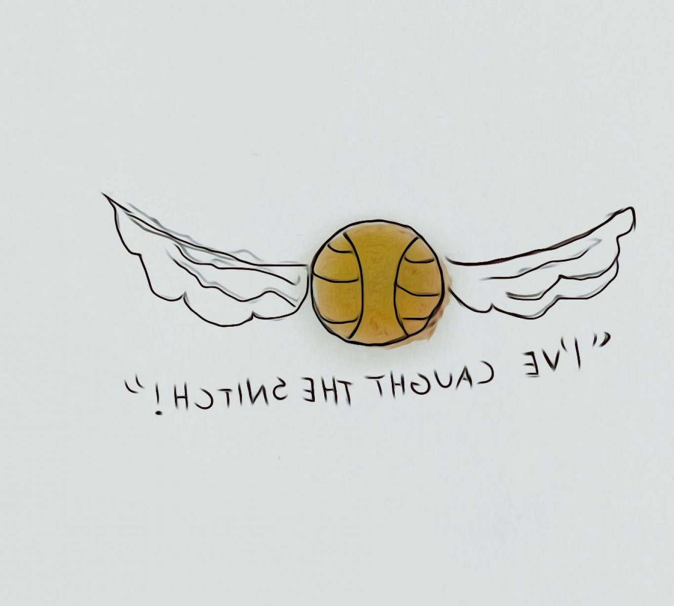 It is a photo of Irresistible Harry Potter Snitch Drawing