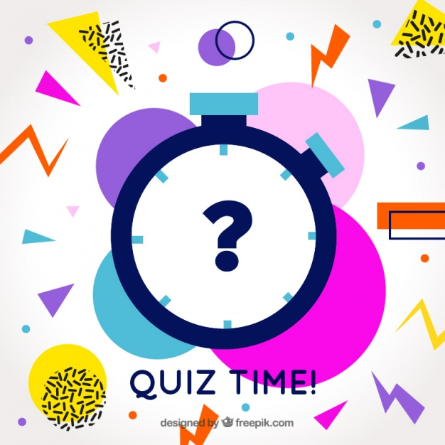 626x626 Modern Quiz Background With Colorful Shapes Vector Free Download