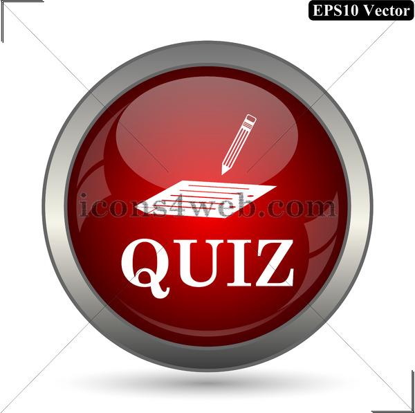 600x597 Quiz Vector Icon. Quiz Vector Button. Eps10