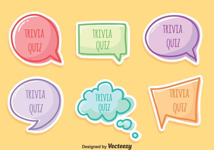 700x490 Trivia Quiz Vector Set
