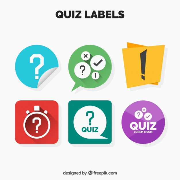 626x626 Collection Of Quiz Labels Vector Free Download