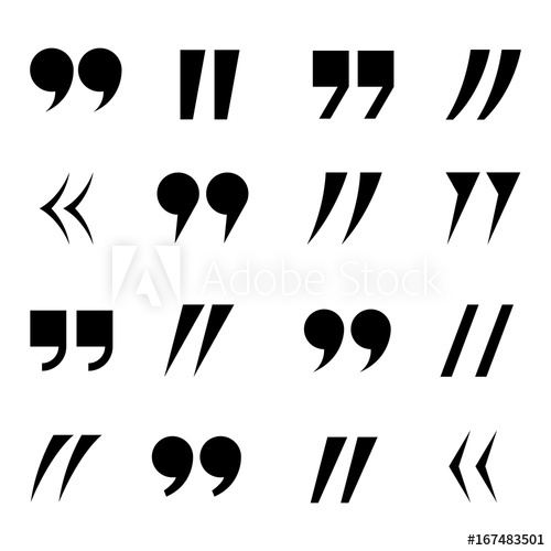500x500 Quotes Icon Set. Quote Marks. Stock Vector