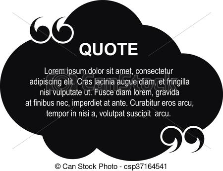 450x344 Vector Cloud Quote. Vector Quote With Quotation Marks, Commas
