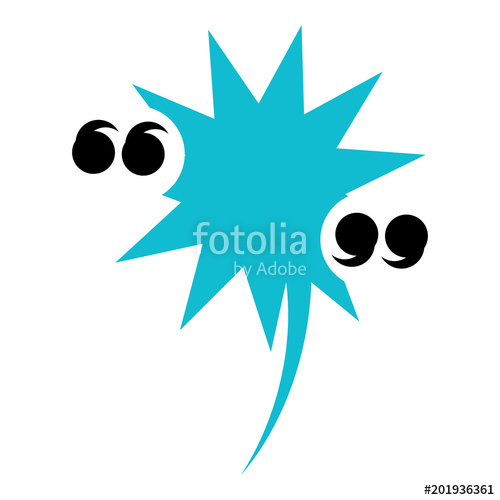500x500 Expression Burst With Quotation Marks Icon Over White Background