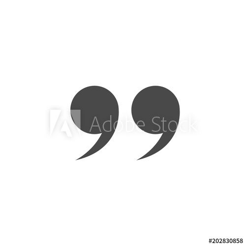 500x500 Quote Marks Vector Icon