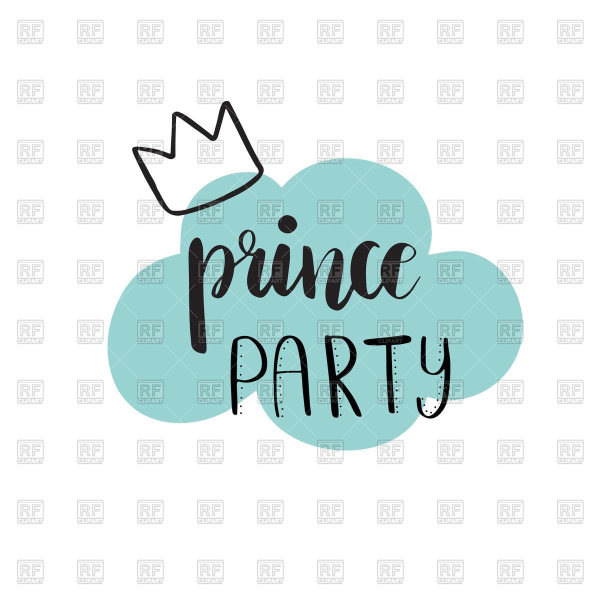 1200x1200 Prince Party Bridal Shower Card Design. Birthday Boy Lettering